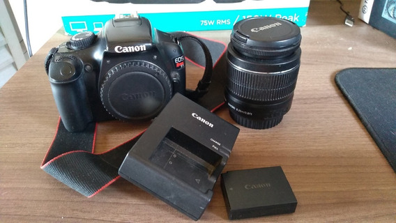 Câmera Canon T3 + Lente Canon 18-55mm + Carregador E Bateria