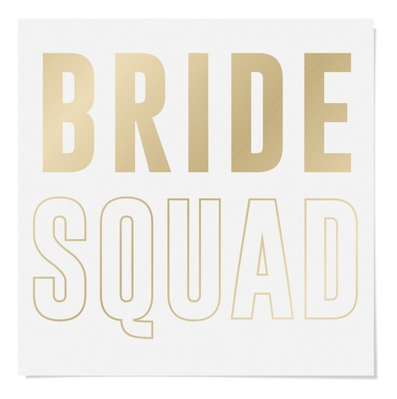 Cartela Papel Transfer P/camiseta Letras Bride Squad 13x13cm