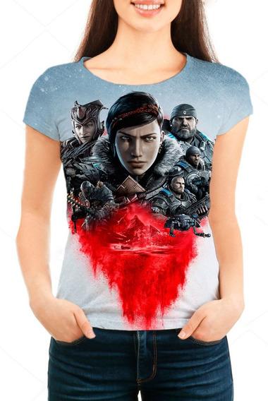Camiseta Babylook Feminina Game Gears 5 - Mn01