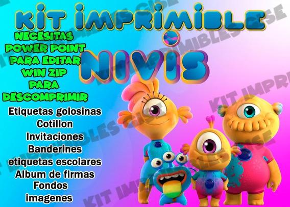 Kit Imprimible Nivis Amigos De Otro Mundo