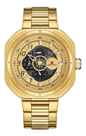 Relógio Masculino Naviforce 9141 Esportivo Design Lançamento