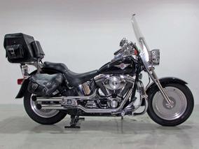 Harley Davidson Softail Fat Boy 2002 Preta