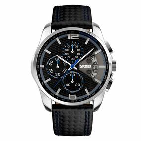 Relógio Skmei Original 9106 Com Cronógrafo Casual Executivo