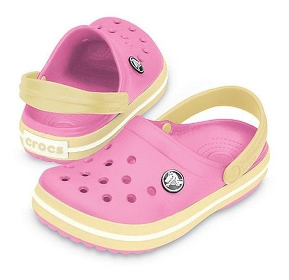 Crocs Crocband Niños Rosa / Amarillo