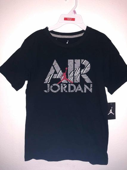 Camiseta Original Para Meninos Air Jordan - Preta Ou Cinza