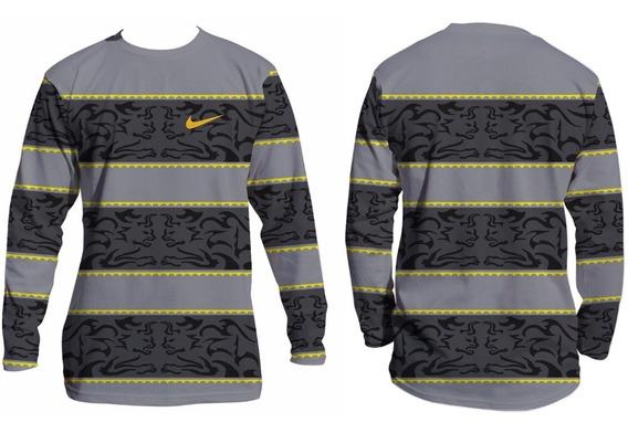 Camiseta Para Pratica De Esporte Uv50 Manga Longa Ref:20