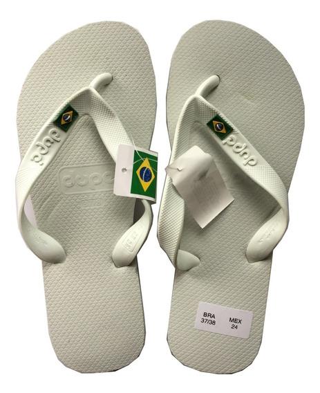 Sandalias Hombre Brasileñas Playa Dupe 0198 Brasil Blanco