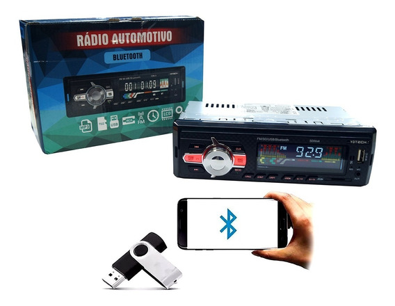 Som Automotivo Bluetooth Carro Celular Mp3 Pen Drive - 81855