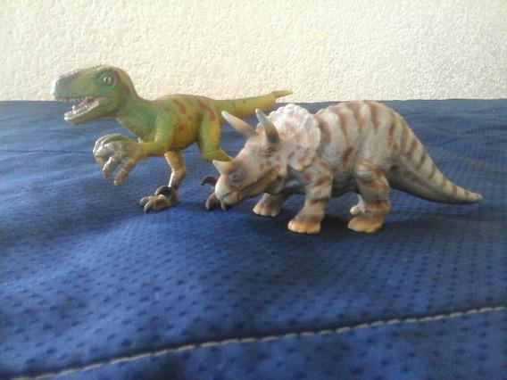 Dinosaurios Velociraptor Triceratops Schleich