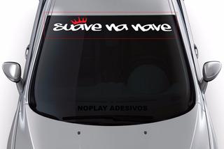 Adesivo Faixa Parabrisa Tunado Carro Esportivo Suave Na Nave