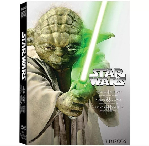Box Original Star Wars A Nova Trilogia - Dvd Episódios 1 A 3
