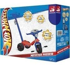 Mototico Passeio Motoquinha Triciclo Hot Wheels Bandeirante