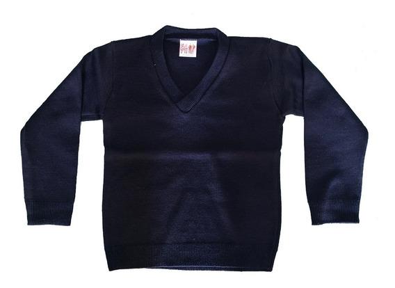 Suéter Escolar Varios Colores Cuello V Niño