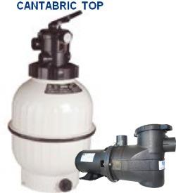Kit Moto Bomba 1cv+pré-filtro+filtro P/ Piscina Até 100mil L