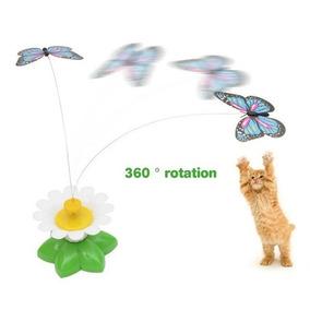 Brinquedo Pet Gato Elétrico Borboleta Passáro Voador Rotativ