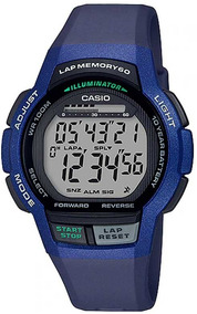 Relógio Casio Masculino Lap Memory60 Standard Ws-1000h-2av