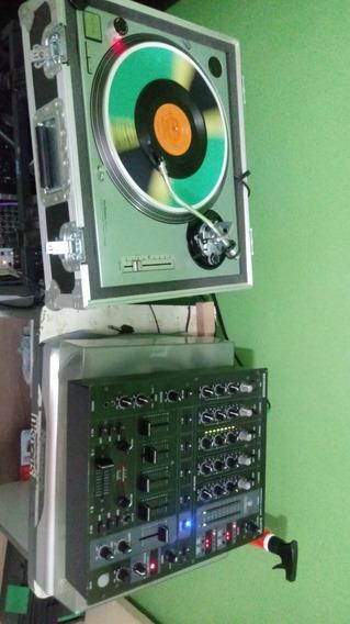 Toca Disco Mk2,case,cápsula Ortofon Mais Mixe Djx 750