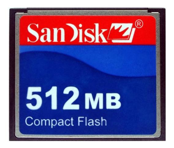 Cf Cartão Compact Flash Sandisk 512mb 15mb/s