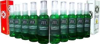 10 Botellas De Shampoo Jye Puro Bergamota Organico Mayoreo
