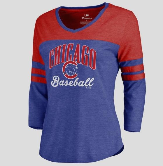 Remera Fanatics Chicago Cubs Mlb Talle M Ladies Original