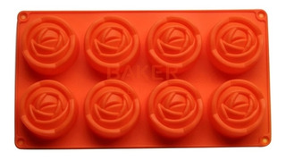 Molde Silicona Rosas 8 Cavidades, Jabón Artesanal, Chocolate
