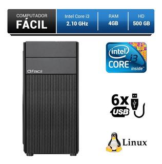Computador Pc Fácil Intel Core I3 2.10ghz 4gb 500gb