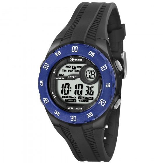 Relógio Xgames Xkppd024 Bxpx Unissex Azul Preto - Refinado