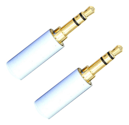 Imagem 1 de 5 de Kit 2 Plug Conector Star Cable P2 Stereo