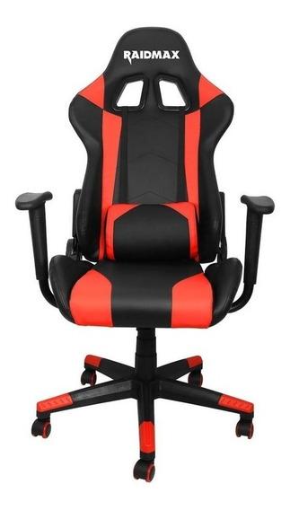 Cadeira Gamer Raidmax Drakon Dk 702 Preta Com Vermelho