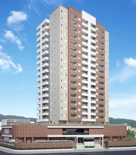 Imagem 1 de 13 de Apartamento, 1 Dorms Com 52.37 M² - Vila Caiçara - Praia Grande - Ref.: Gim6023455 - Gim6023455