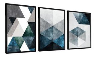 Quadro Decorativo Abstrato Azul Moderno P Sala Quarto Hall