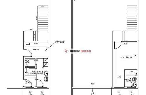 Galpão Para Alugar, 200 M² Por R$ 3.000/mês - Residencial Esperança - Caçapava/sp - Ga0167