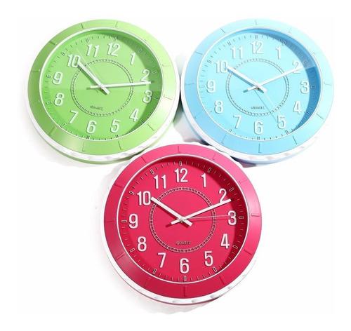 Reloj De Pared Full Colors, 30 Cm-tutti