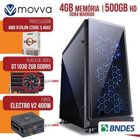 Computador Athlon 220ge 3.4gh 4gb 500gb Gt1030 2gb 64bits