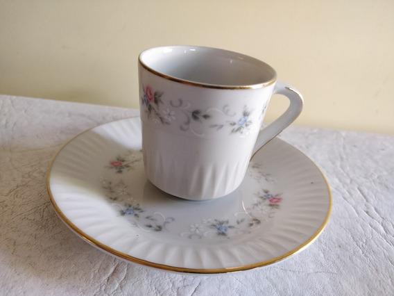 Taza Y Plato Café Porcelana Tsuji