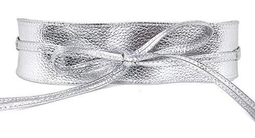 Mujer Piel Sintã©tica Cinturã³n De Lazo Corbata Abrigo A