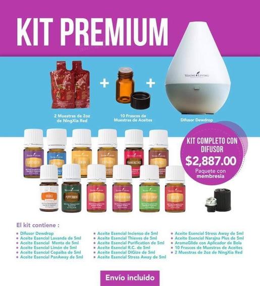 Young Living Kit De Inicio Premium Con Difusor Dew Drop
