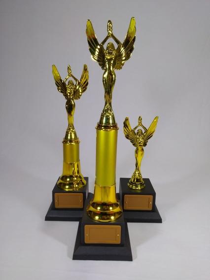 Troféu Personaliz. Honra Ao Mérito -kit Com 3 -44, 38 E 25cm