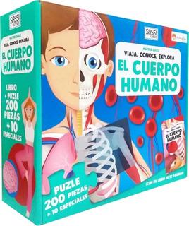Puzzle 200 Piezas Con Libro El Cuerpo Humano Edu