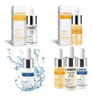 Kit Lanbena 3pz Serum Vitamina C Hialuronico 6 Péptidos Full