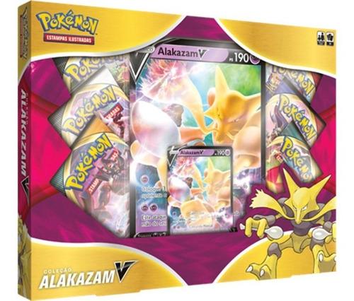 Imagem 1 de 3 de Pokémon - Box Coleção Alakazam V