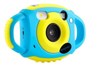 Camara Fotografica Hd 5mpx Reforzada Para Niños Necnon Azul