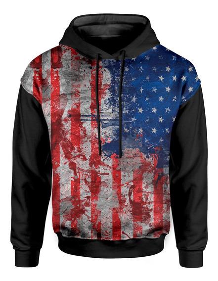Moletom Com Capuz Unissex Bandeira Estados Unidos Eua
