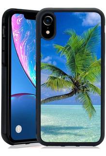 Beach Palm Tree Funda Para Teléfono Xr Funda Protector...
