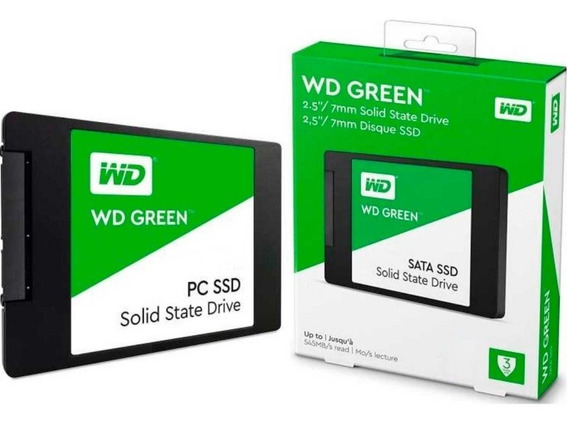 Ssd Hd Wd 480gb Sata Iii 2.5 Green Pc Notebook Gamer 430mb