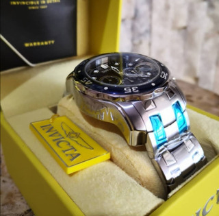 Reloj Marca Invicta Pro Diver Modelo 0070 Manilla En Acero