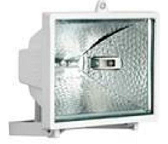 Refletor Retangular Brasfort 150w Branco Bivolt Lampada 150w