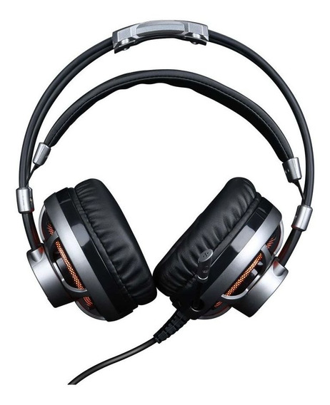 Headset Gamer 7.1 Surround Channel Led Laranja Elg Hgss71