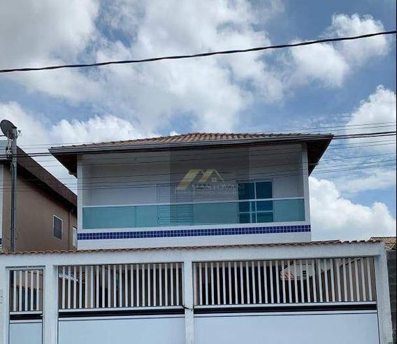 Excelente Sobrado ,ótimo Acabamento, 2 Dormitórios, Sala, Lavabo, Cozinha E Área De Serviço, 1 Vaga De Garagem, Em Praia Grande/sp. - So0111