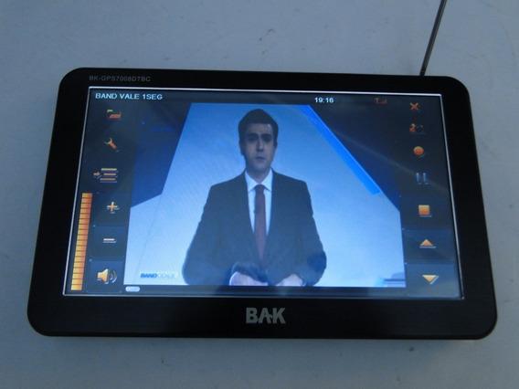 Tv Digital-gps Bak Bk-gps7008dtb Em Perfeito Estado De Func.